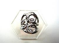 Стильное Кольцо с серебрянным покрытием , фото 1