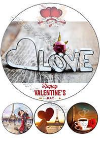Круглые картинки день святого Валентина
