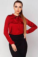 Женская блузка из шелка Ясмина бордовая