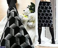 Женская юбка теплая шерстянная миди (ботпл)