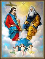 Образ Свята Троїця 200х240мм №112 в багетній рамці