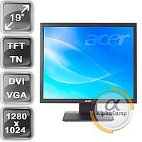 "Монитор 19"" Acer B193 (TN/5:4/VGA/DVI/колонки) class A б/у"