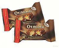 Конфеты Отломи кондитерская фабрика Акконд с орешками и воздушным рисом