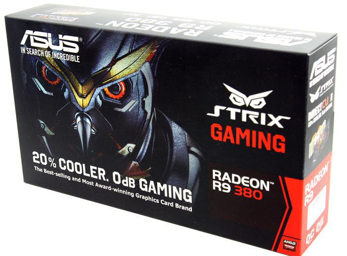 "Видеокарта Asus Strix R9 380 2GB GDDR5 (256bit) ""Over-Stock"""