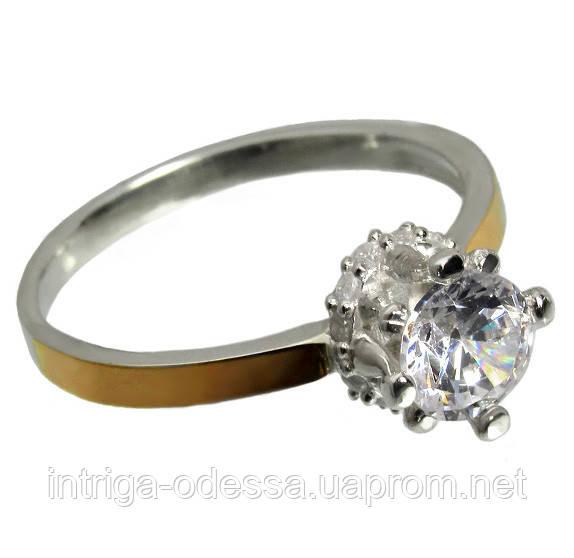 Серебряное кольцо с золотыми накладками Миледи.