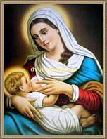 Образ Богородиця з малюком 200х240мм №107 в багетній рамці