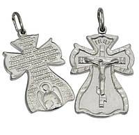 Серебряный крестик с молитвой 1010кр.