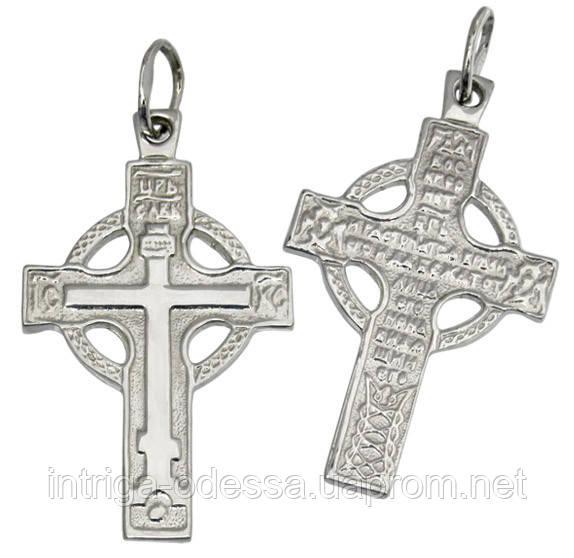 Серебряный крестик с молитвой 1015кр.