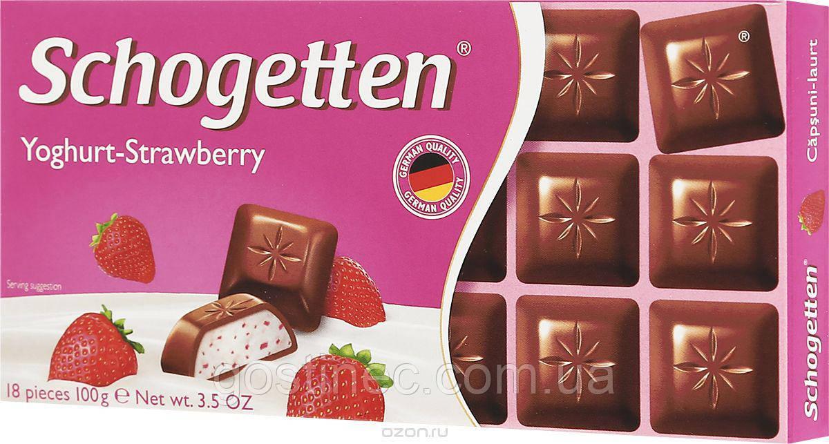 Шоколад Schogetten Йогурт-Клубника