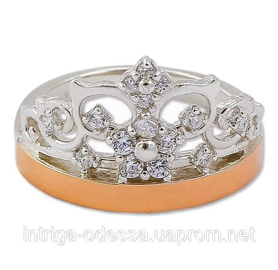 Кольцо корона с золотыми накладками 30505.