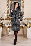 Женское пальто  демисезонное серое стильное