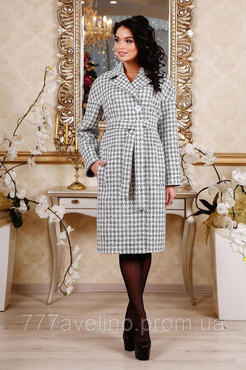 Женское пальто  весна осень серое модное длинное