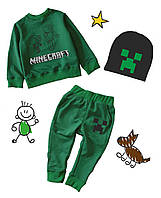 """Комплект свитшот+штаны+шапка """"Minecraft"""""""