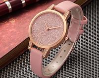 Модные женские наручные часы с розовым ремешком код 365