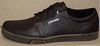 Мужские туфли на шнурках из натуральной кожи от производителя модель ТМ - 03