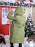 """Стеганое женское пальто на меху """"АЛЯСКА"""" с карманами и капюшоном (2 цвета), фото 6"""
