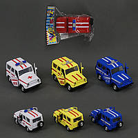 Машина 6622-2 А/ 6622-2 С/ 6622-2 D/ 6622-2 F (192/2) 4 цвета, инерция, 1шт в кульке