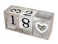 Вечный календарь «Из года в год» Размер - 20-7-9,5 см.