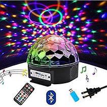 Светодиодный Диско шар с встроенной беспроводной колонкой LED Magic Ball Light BT, фото 3