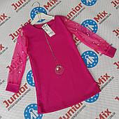 Деткие цветные нарядные туники для девочек оптом F&Y