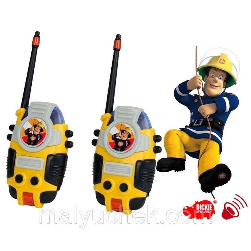 Рация игрушечная Пожарный Сэм Радио диапазон 80 м Dickie 3099611