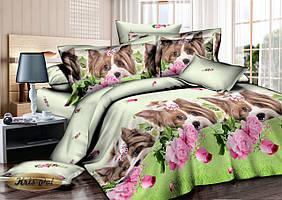 Семейный комплект постельного белья сатин (7001) TM KRISPOL Украина