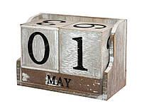Вечный календарь «Из года в год» Размеры:14-7-9 см.
