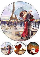 Вафельная картинка день влюбленных