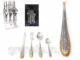 Набор столовых приборов на 6 персон на железной подставке