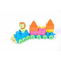 Конструктор Поезд 1 прицеп № 02-409, детский конструктор,паровозик, игрушка