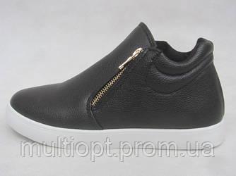 Ботинки молодежные оптом 36-41 черные