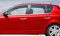 Kia Ceed 2010-2012 гг. Окантовка стекол (4 шт, нерж.)
