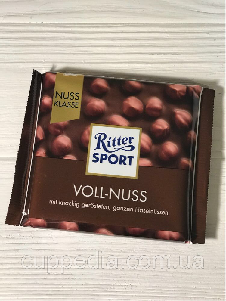 Ritter Sport молочный шоколад Voll-Nuss