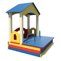 Деревянный домик с песочницей InterAtletika