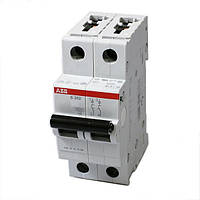 Автоматический выключатель ABB 2р 63А (тип В) S 202