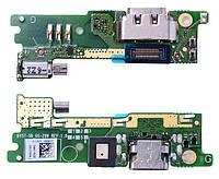 Шлейф Sony G3112 Xperia XA1 Dual c разъемом зарядки, микрофоном и виброзвонком Original