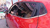 Окантовка стекол (HB, 8 шт, нерж) - Renault Clio IV 2012+ гг.