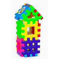 Конструктор-пазлы №6, детский цветной конструктор, игра развивающая