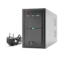 ИБП (UPS) Ritar E-RTM650 (360W) ELF-D, LED, AVR, 4st, 2xSCHUKO socket, 1x12V7Ah, metal Case. Q4