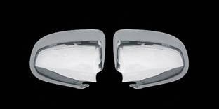 Накладки на зеркала (2 шт., нерж) - Audi A6 C6 2004-2011 гг.