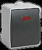 ВС20-1-1-ФСр Выключатель одноклавишный со свет. индикатором для открытой установки ФОРС IP54 IEK