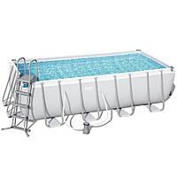 Каркасный бассейн Bestway 56670 (488х244х122) с картриджным фильтром, фото 1