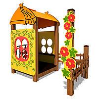 Детский деревянный домик Хатинка InterAtletika