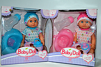 Пупс Beby Doll 6 функций и аксессуары