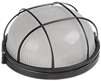 Светильник НПП1302 черный/круг с реш.60Вт IP54 ИЭК