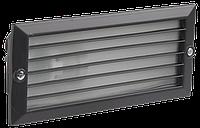 Светильник НВП3101 черный/прямоугольник с решеткой 60Вт IP54 IEK