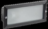 Светильник НВП3102 черный/прямоугольник без решетки 60Вт IP54 IEK