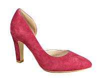 Красные туфли замшевые на каблуке Magnori