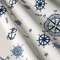 Ткань Синий компас