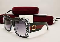 Женские солнцезащитные очки Gucci GG3862 (Black), фото 1